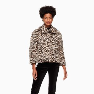 Kate Spade leopard-print puffer jacket